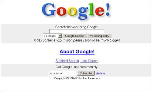 Google в 1997